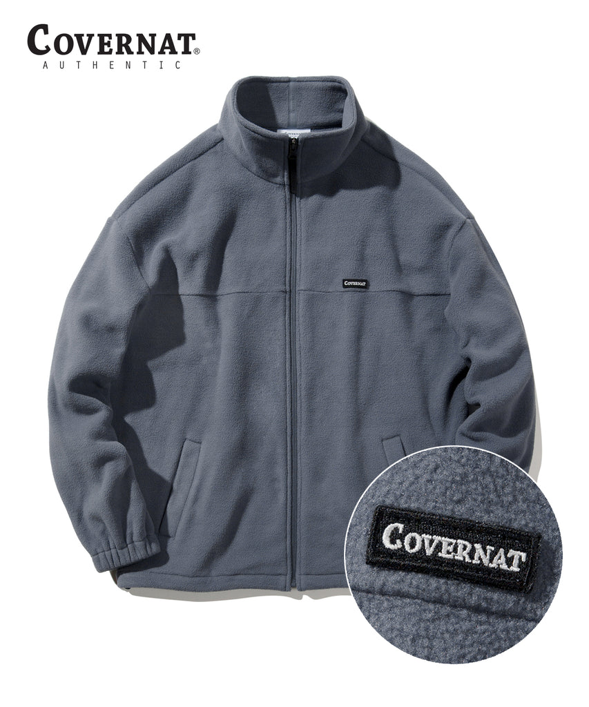 Covernat Fleece Jackets Charcoal  - HALLYU MART