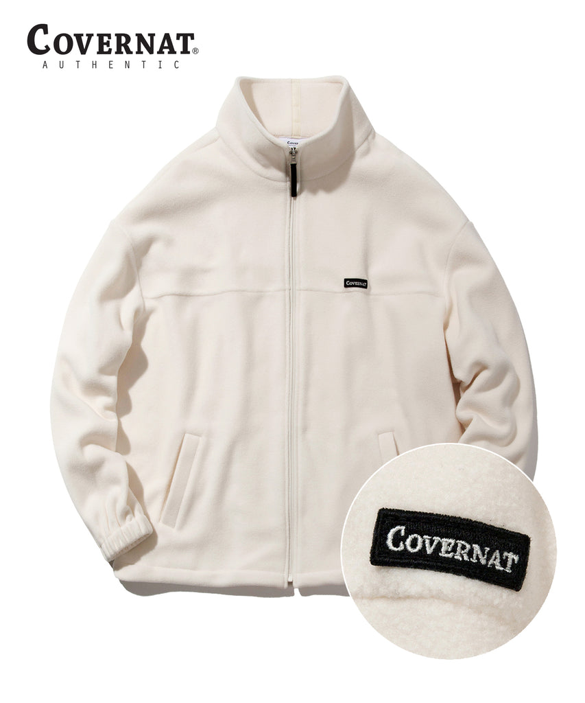 Covernat Fleece Jackets Ivory  - HALLYU MART
