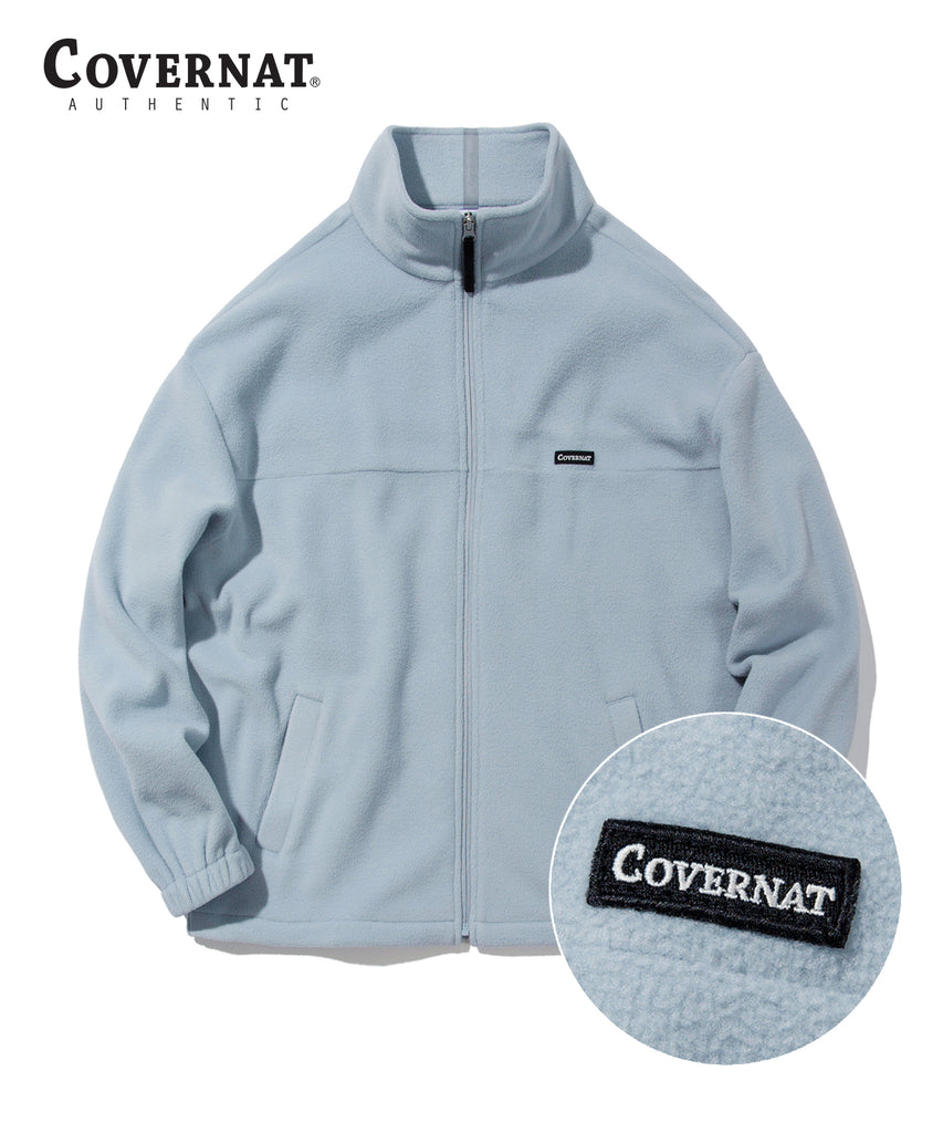 Covernat Fleece Jackets Light Grey  - HALLYU MART