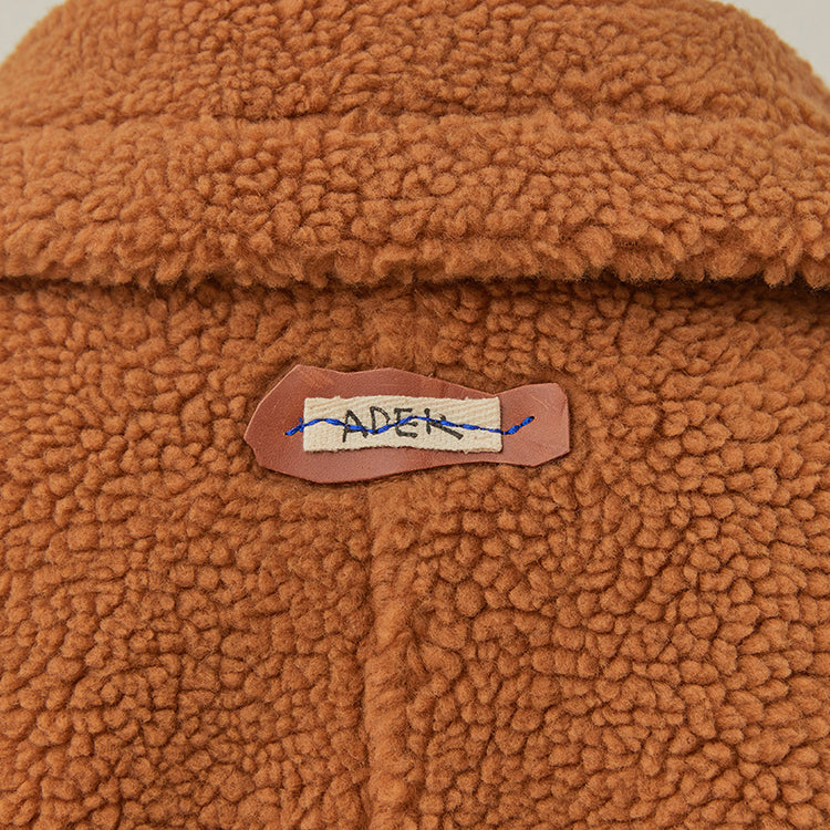 Adererror Placid Shearling Jacket Brown  - HALLYU MART