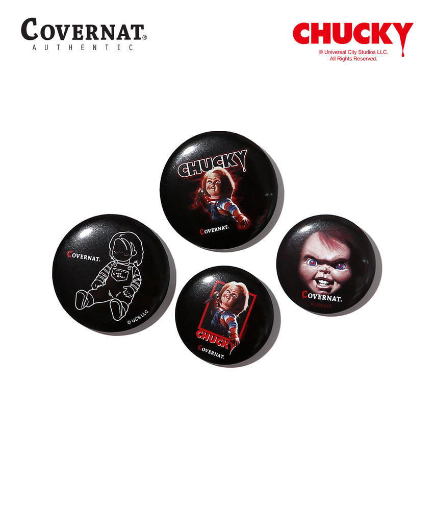 Covernat x Chucky Can Badge 4 Pack  - HALLYU MART