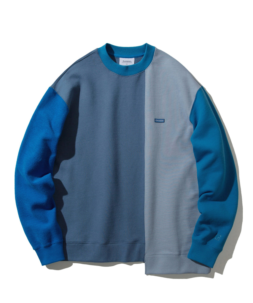 Covernat Dissection Coloration Crewneck Sweatshirt  - HALLYU MART