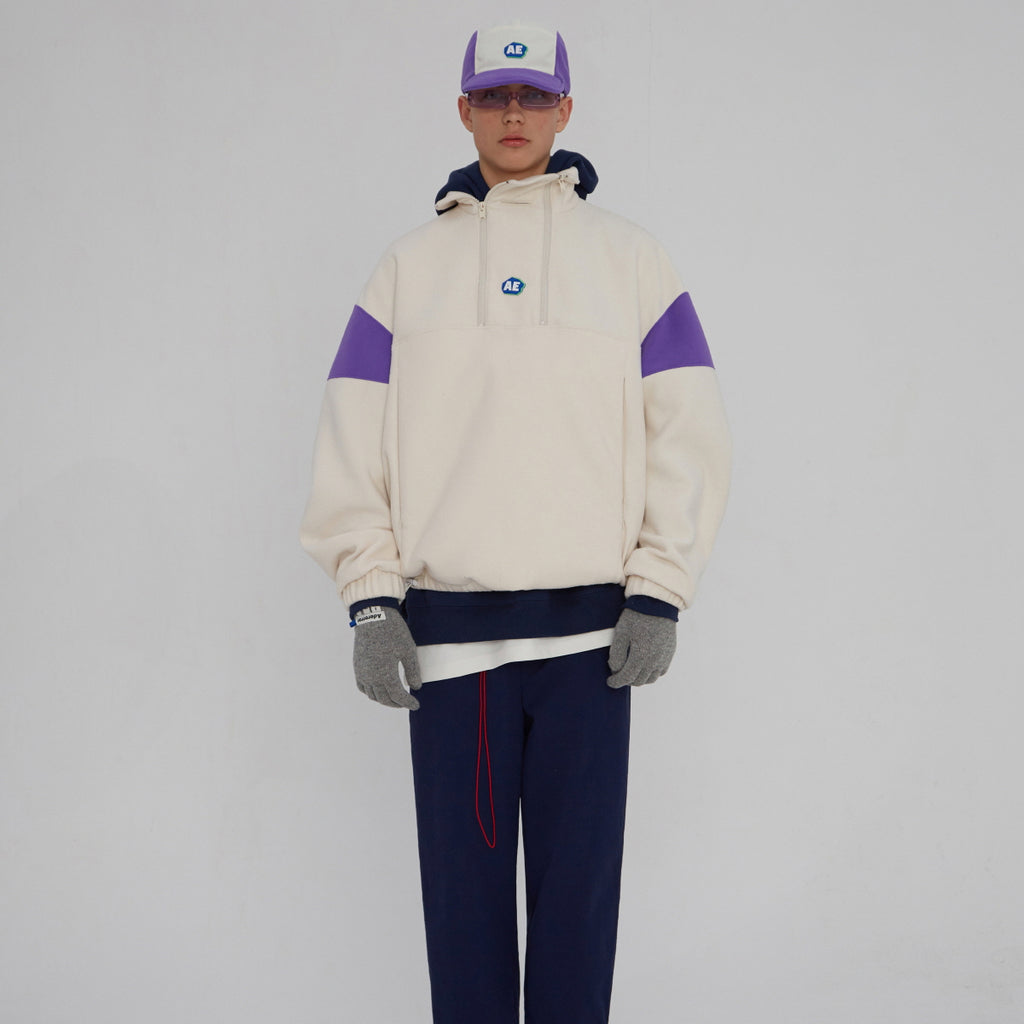 Adererror Able Neck Fleece Ivory  - HALLYU MART