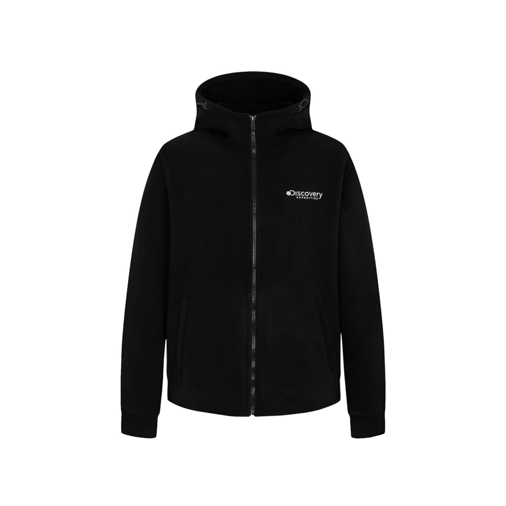 Discovery Expedition Boding Fleece Hoodie Jackets Black DMSS61961-BK  - HALLYU MART