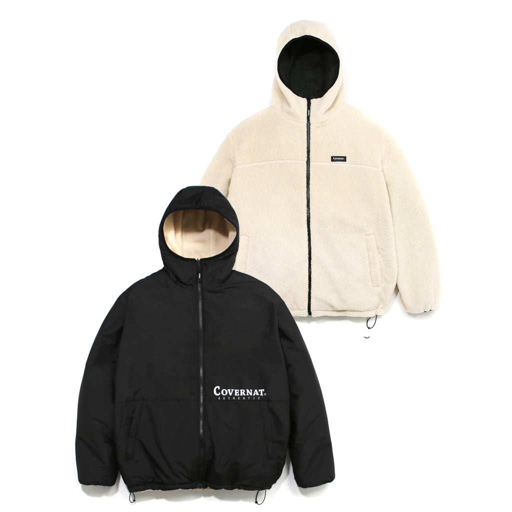 Covernat Reversible Fleece Warm Up Jacket IV/BK  - HALLYU MART