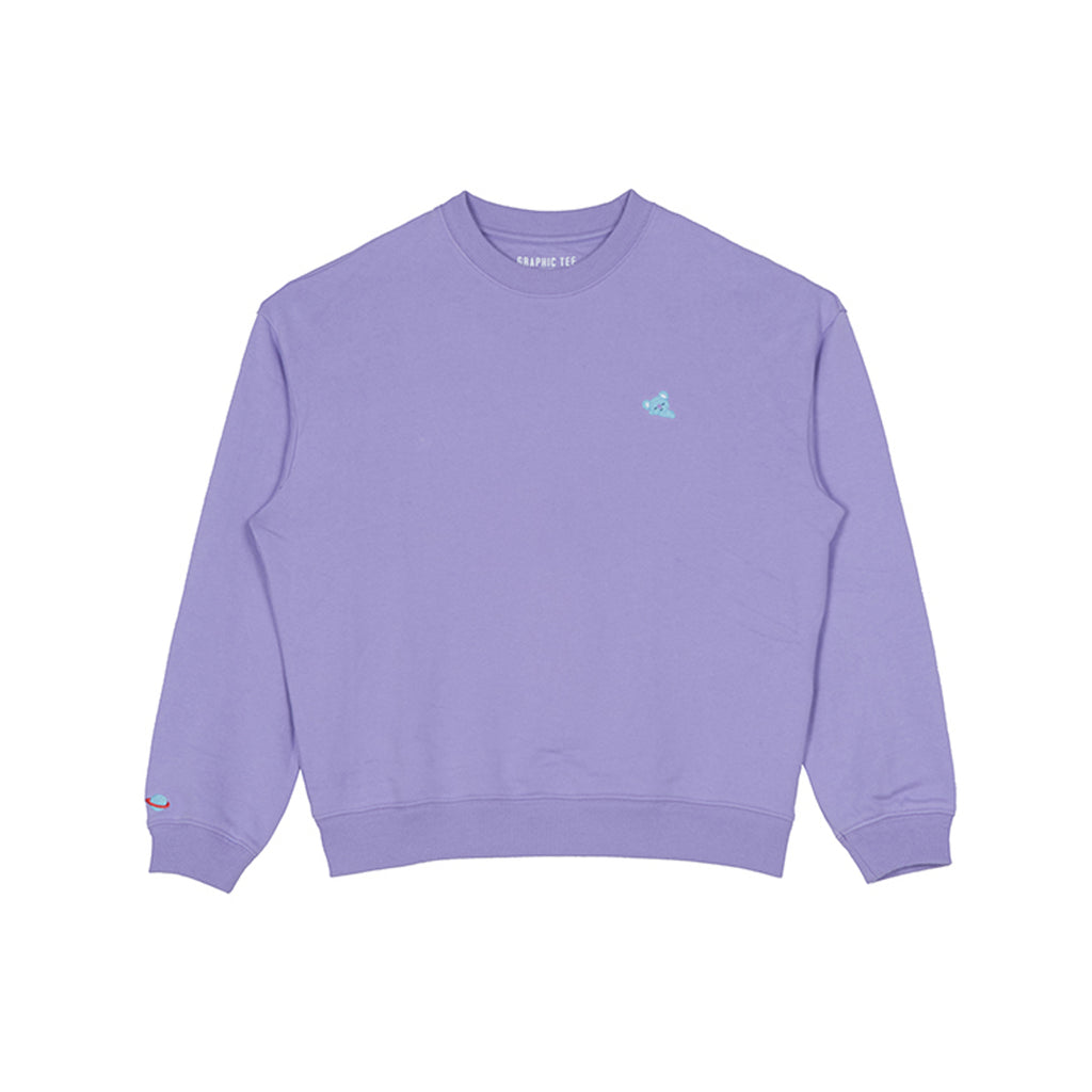 Spao BT21 Koya Loose Fit Man To Man Light Purple