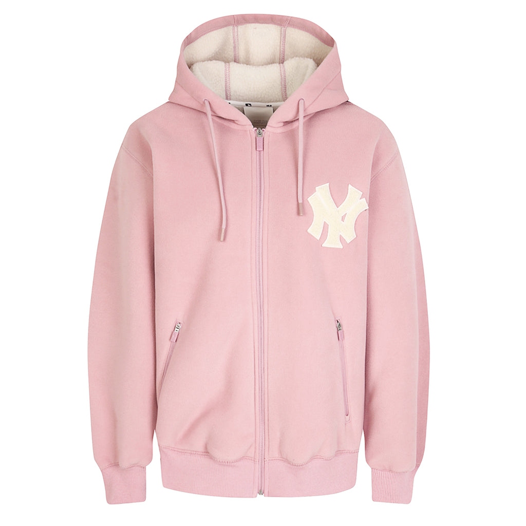 MLB New York Yankees Base Zip-Up Hoodie Pink 31TRF1961-50P