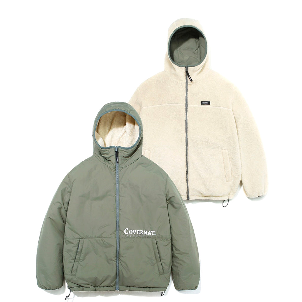 Covernat Reversible Fleece Warm Up Jacket IV/SG  - HALLYU MART