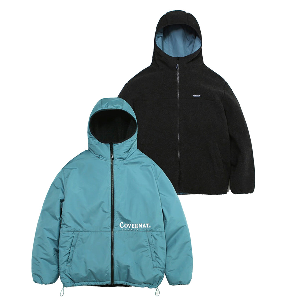Covernat Reversible Fleece Warm Up Jacket CH/BL  - HALLYU MART