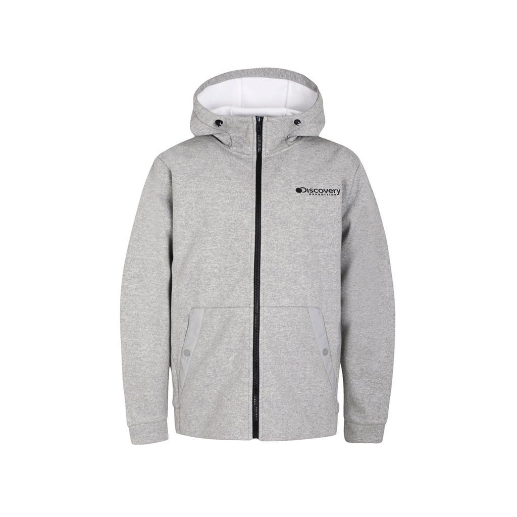 Discovery Expedition Cotton Touch Fleece Jackets Melange Grey DMSS21941-MG - HALLYU MART