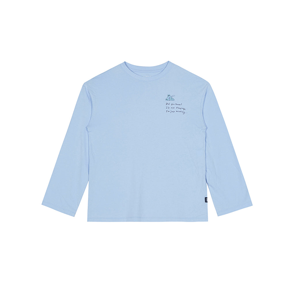 Spao BT21 Koya Long Sleeve T-shirts Light Blue