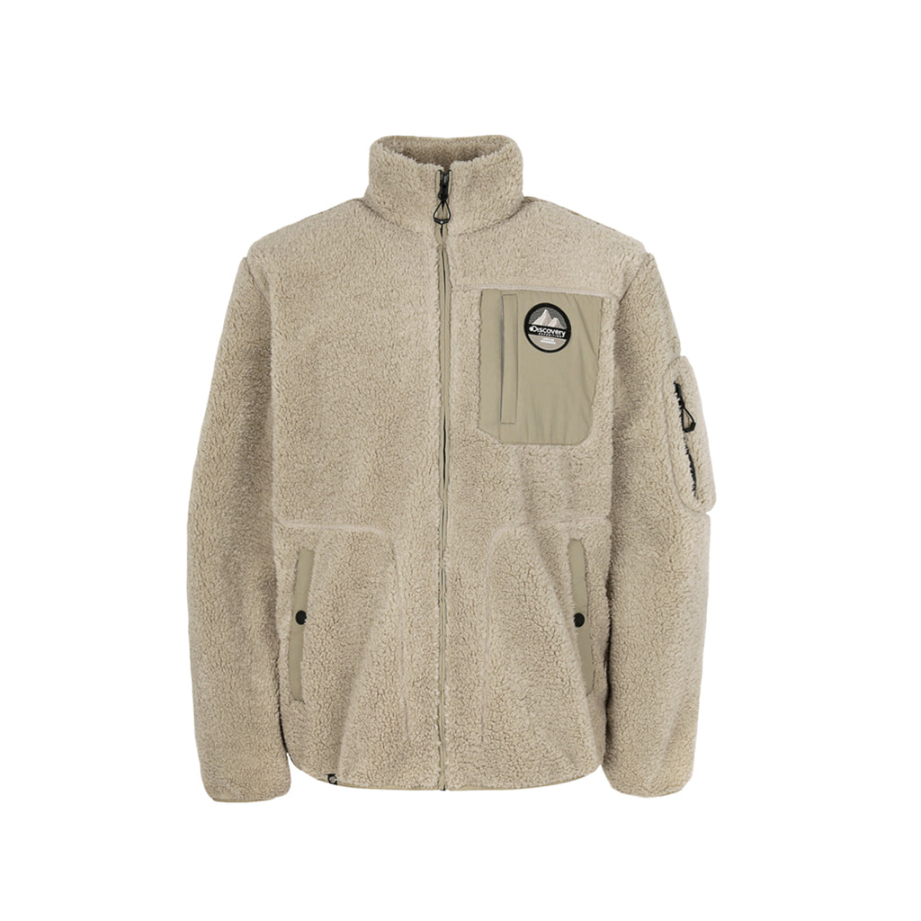 Discovery Expedition Bookle High Neck Jackets Beige DMSS73961-BG  - HALLYU MART