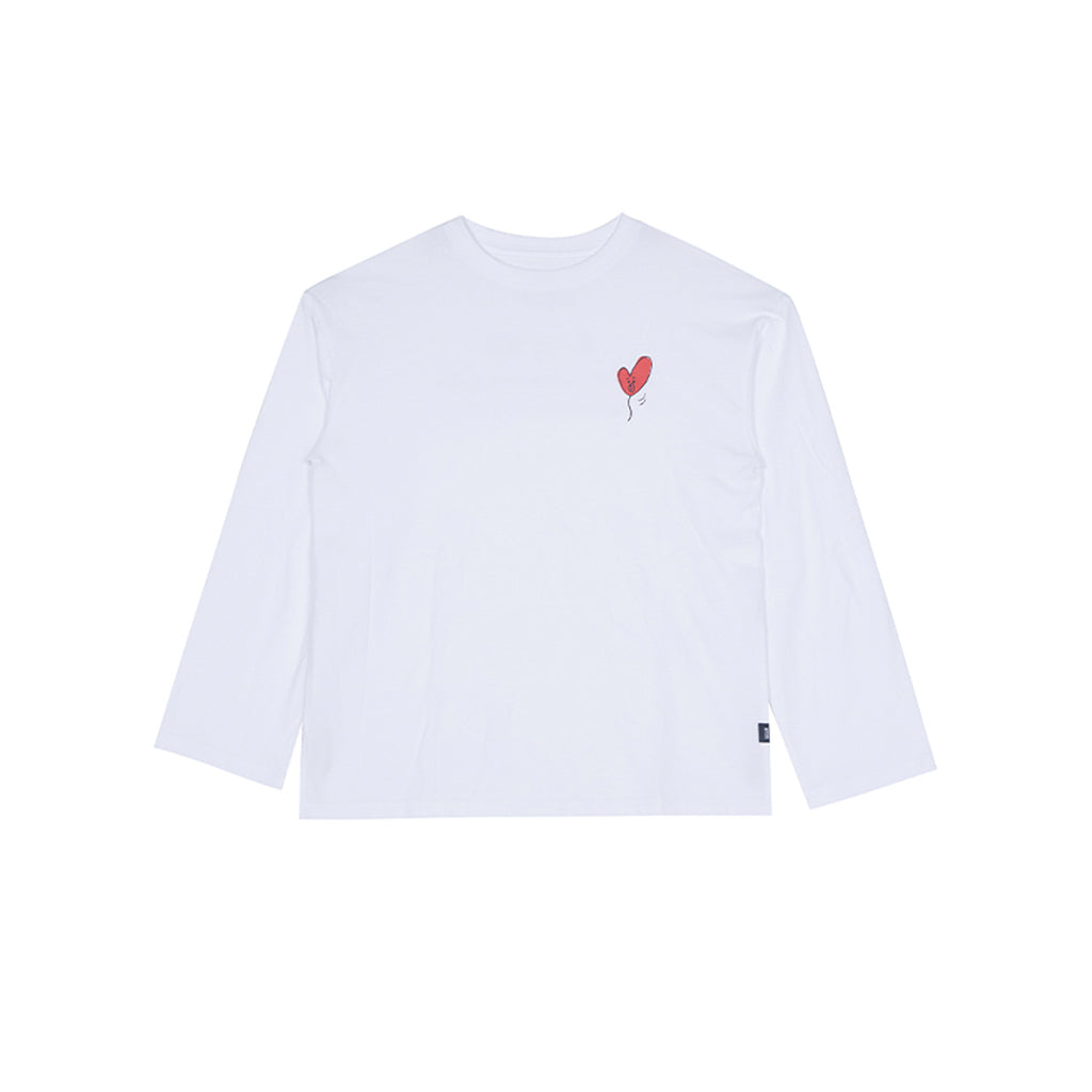 Spao BT21 Tata Long Sleeve T-shirts White