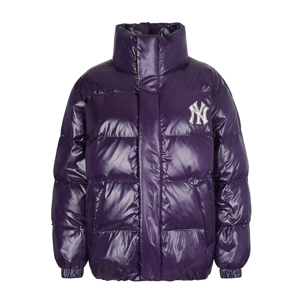 MLB High-Glossy Premium Short Down Jacket New York Yankees Navy 31DJZ4961-50C