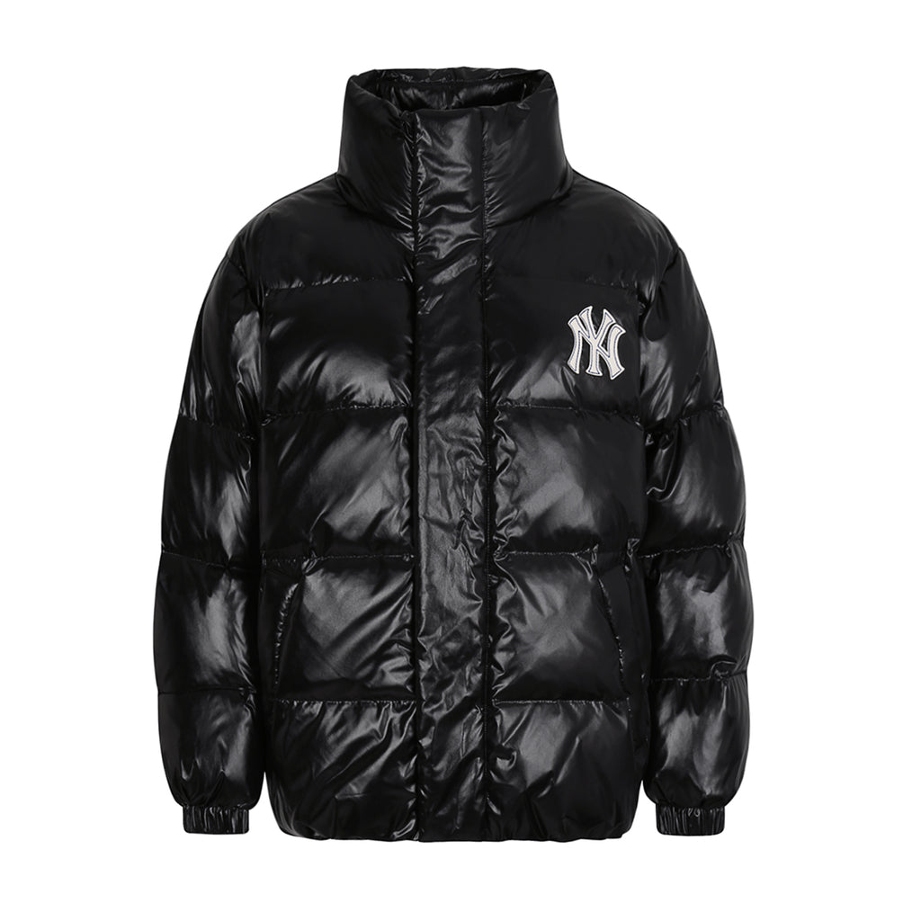 MLB High-Glossy Premium Short Down Jacket New York Yankees Black 31DJZ4961-50L