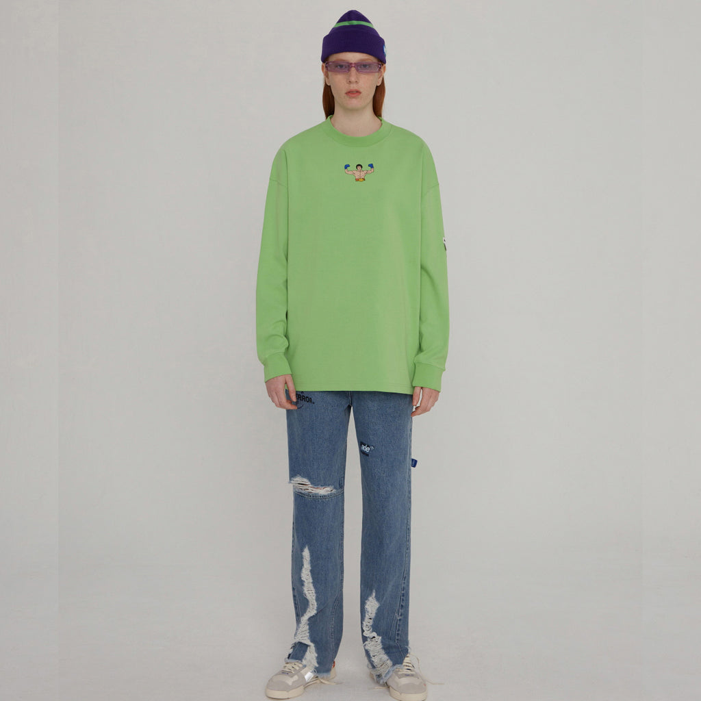 Adererror Scene Long Sleeved T-shirts Neon Green  - HALLYU MART
