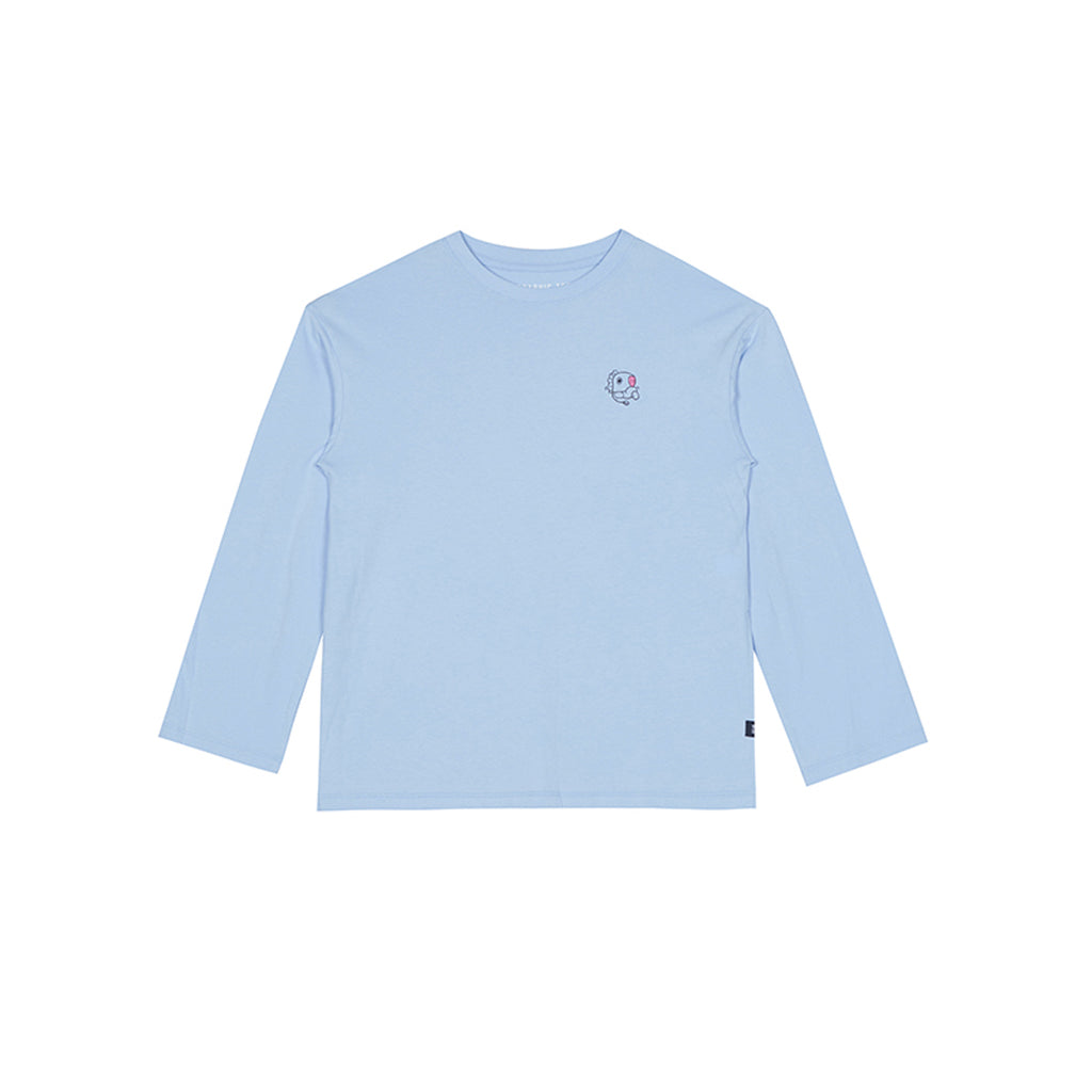 Spao BT21 Mang Long Sleeve T-shirts Blue