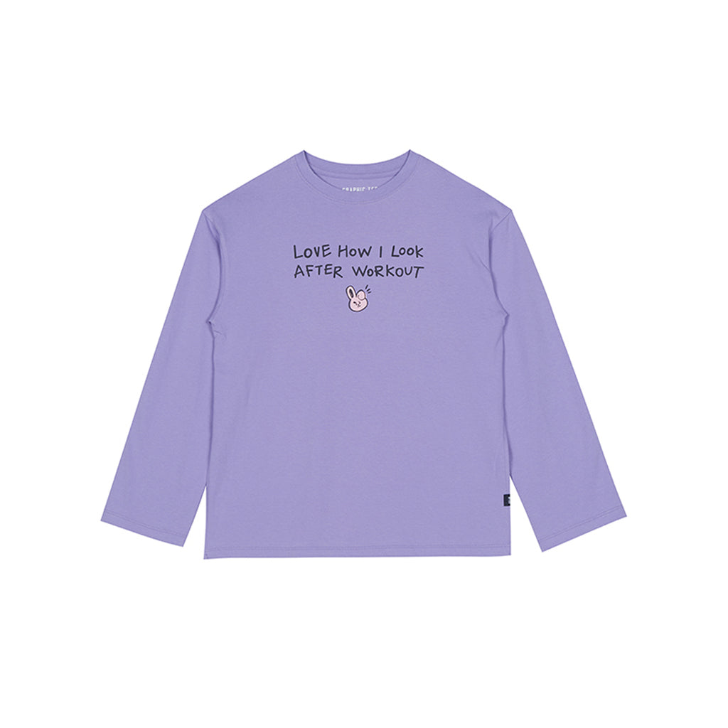 Spao BT21 Cooky Long Sleeve T-shirts Light Purple