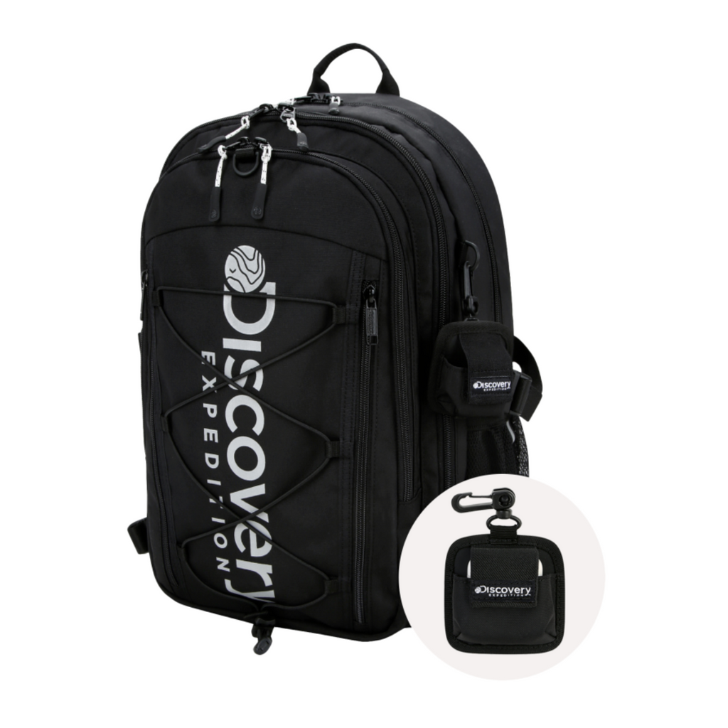 Discovery Expedition Like Air String Backpack Black DXBK35041-BK  - HALLYU MART