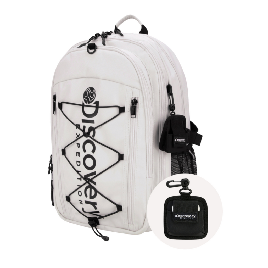 Discovery Expedition Like Air String Backpack Ivory DXBK35041-IV  - HALLYU MART