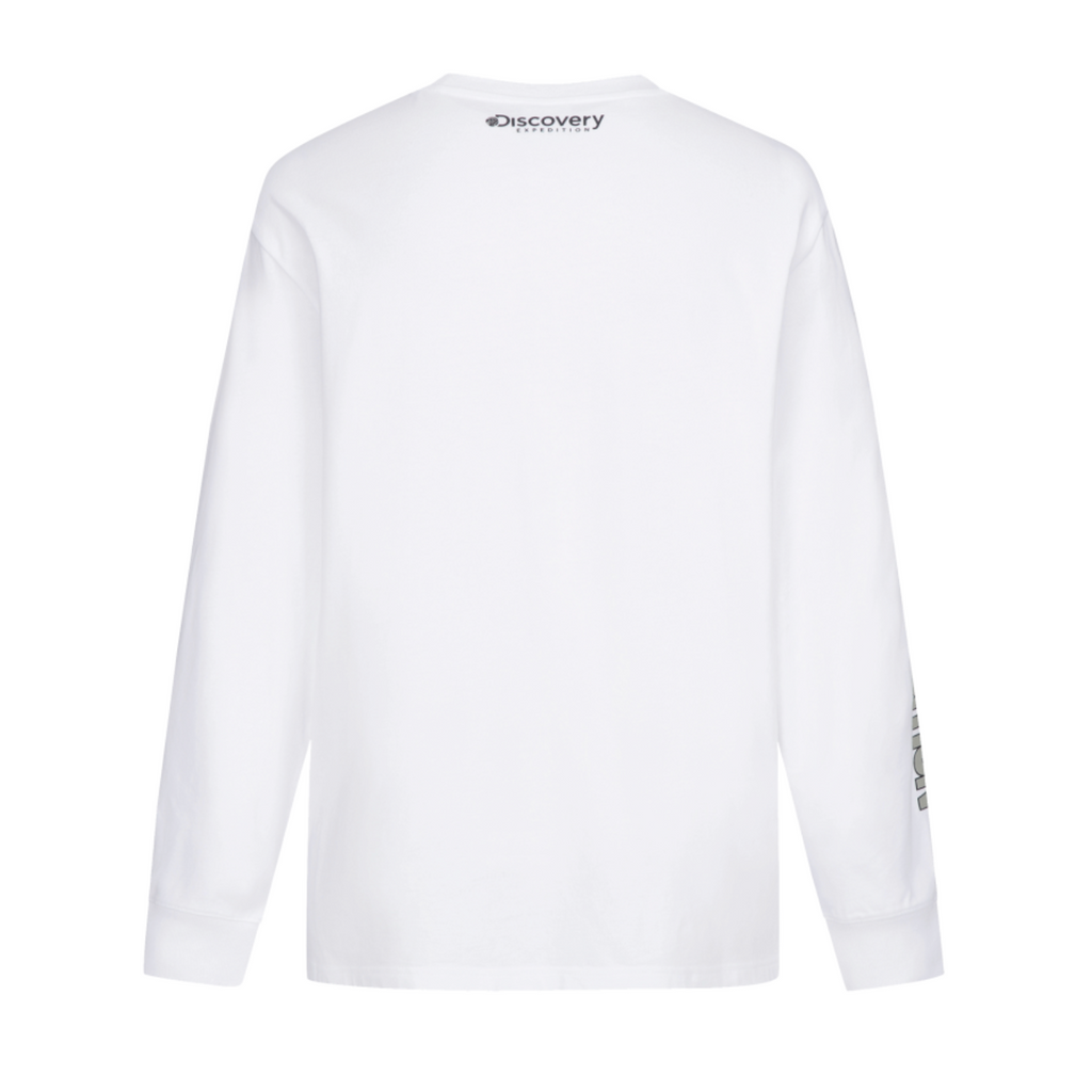 Discovery Expedition Sleeve Point Long Sleeve T-shirts Off White DXRL33041-OW  - HALLYU MART