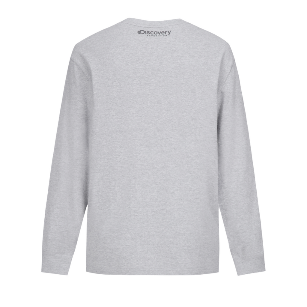 Discovery Expedition Sleeve Point Long Sleeve T-shirts Melange Grey DXRL33041-MG  - HALLYU MART