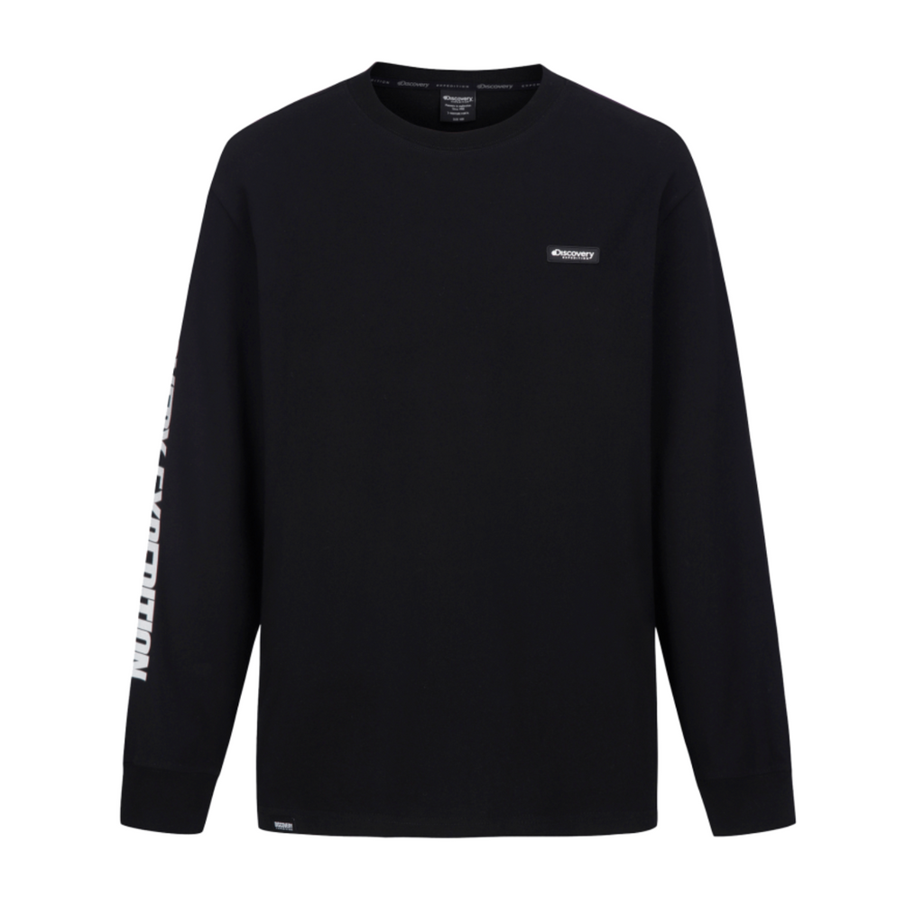 Discovery Expedition Sleeve Point Long Sleeve T-shirts Black DXRL33041-BK  - HALLYU MART