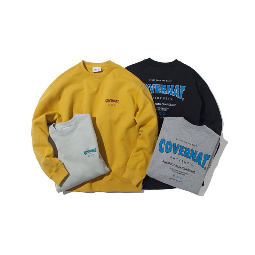 Covernat Drawing Layout Crewneck Sweatshirt  - HALLYU MART