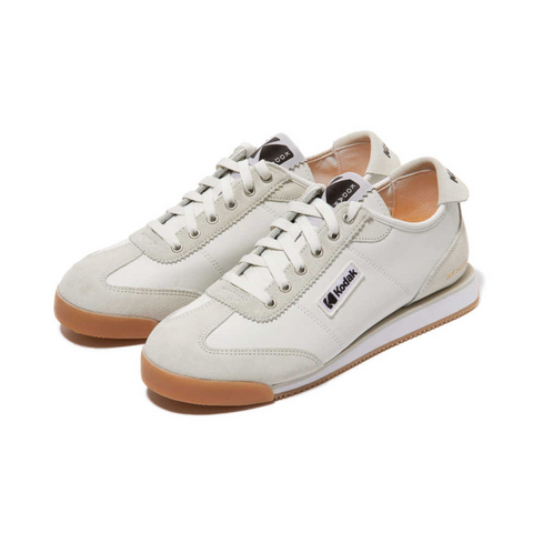 Kodak Apparel KOS Leather Sneakers Shoes White K1163LCR22WHT - HALLYU MART