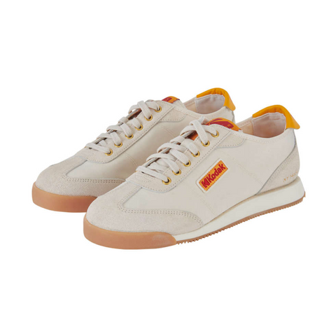 Kodak Apparel KOS Vintage Sneakers Shoes White K1163LCR85WHT - HALLYU MART
