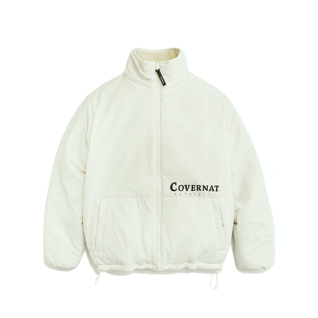 COVERNAT Reversible Fleece ZIP-UP Jacket Off White  - HALLYU MART