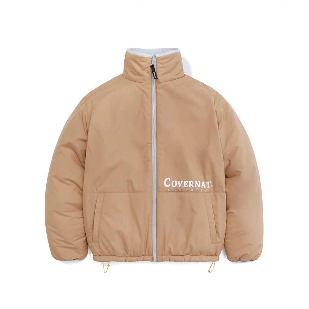 COVERNAT Reversible Fleece ZIP-UP Jacket Cantaloupe  - HALLYU MART