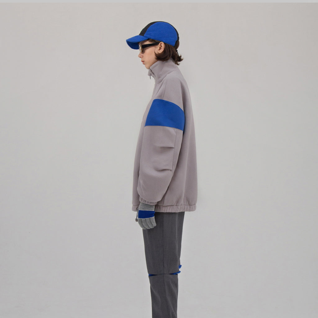 Adererror Able Neck Fleece Grey  - HALLYU MART