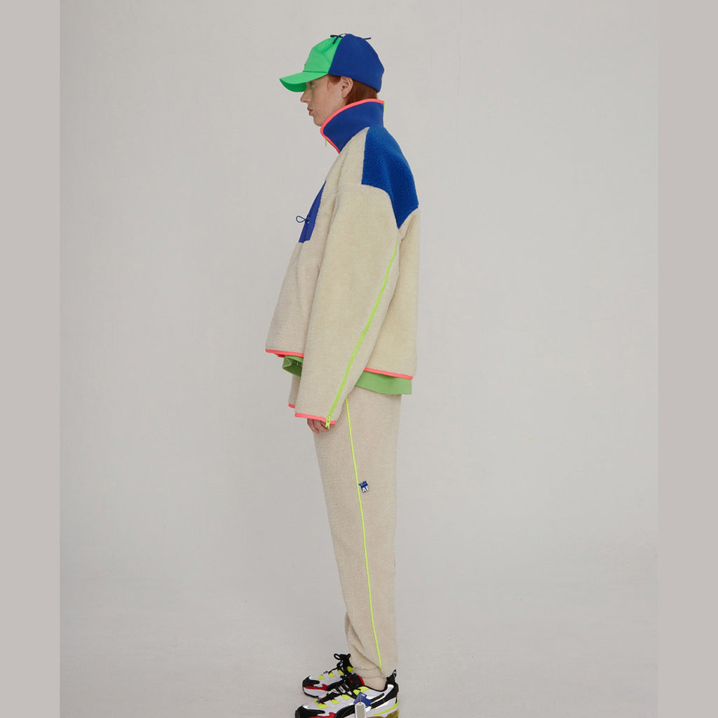 Adererror Trance Fleece Jacket Off White  - HALLYU MART