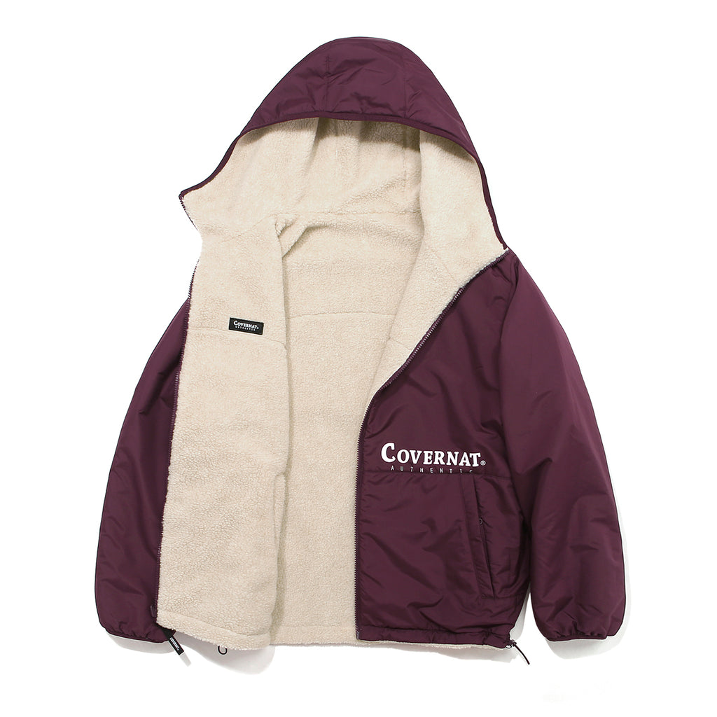 Covernat Reversible Fleece Warm Up Jacket IV/PU  - HALLYU MART