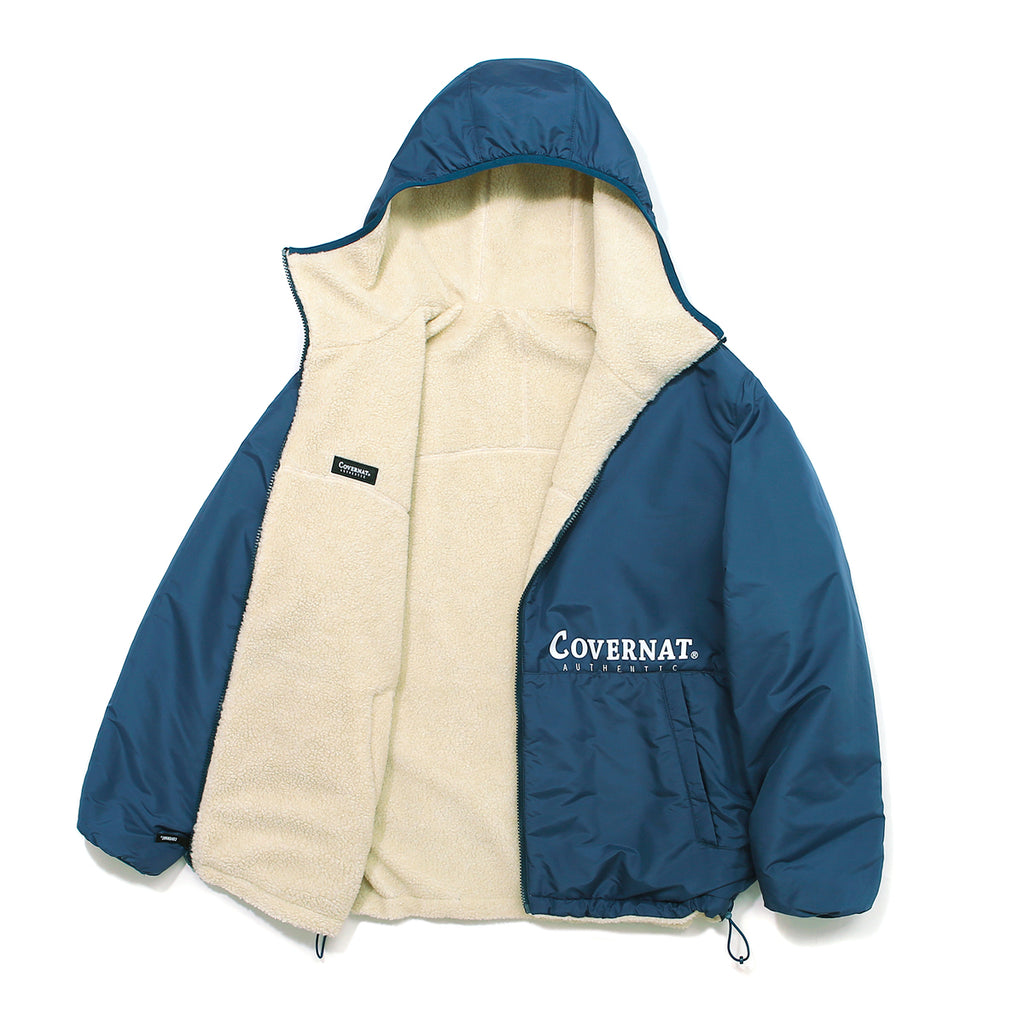 Covernat Reversible Fleece Warm Up Jacket IV/BL  - HALLYU MART
