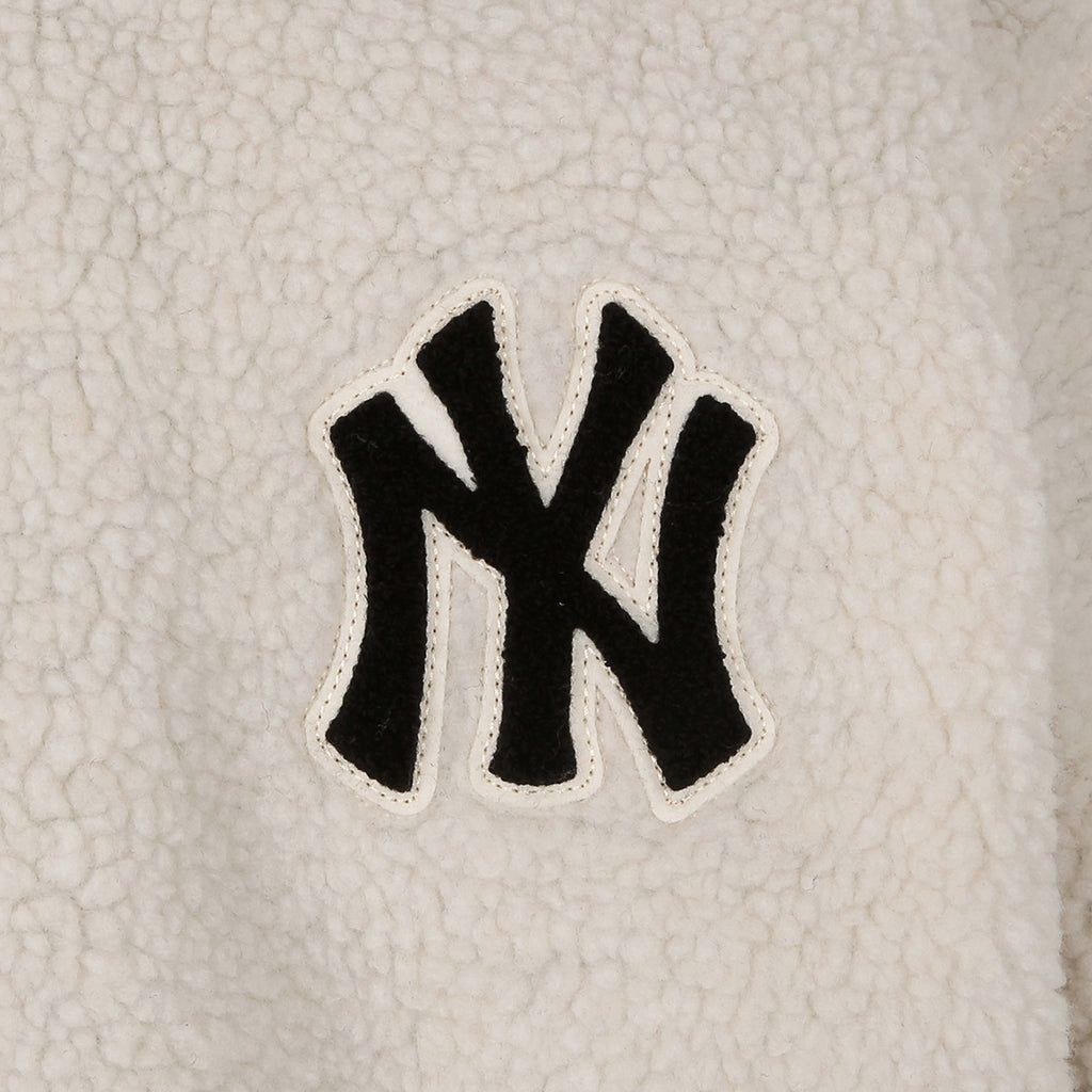 MLB New York Yankees Reversible Sheep Boa Jacket White 31JPF2941-50I