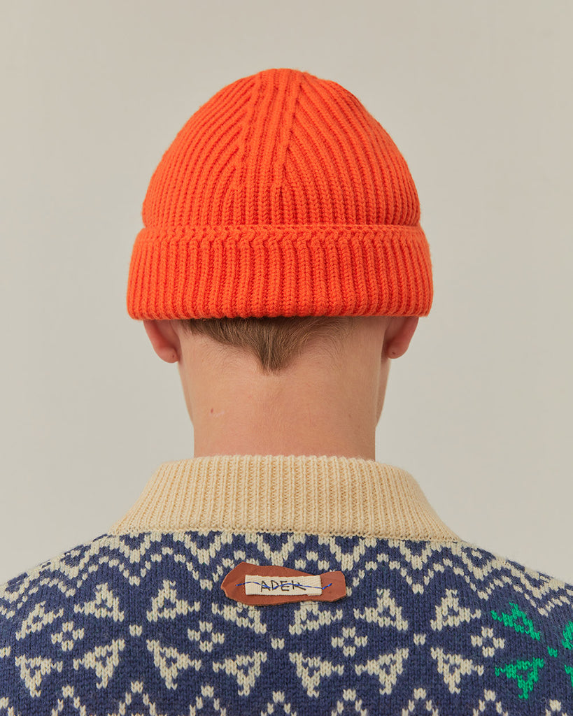 Adererror Layered Label Beanie Orange  - HALLYU MART