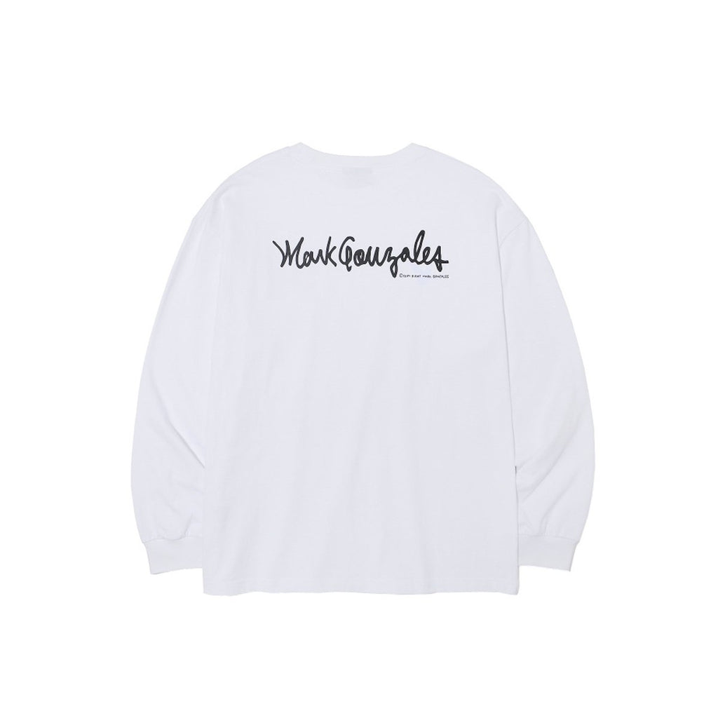 BTS J-Hope Mark Gonzales M/G Multi Angel Long Sleeve T-shirts White  - HALLYU MART