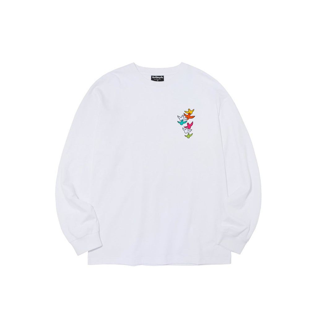 BTS J-Hope Mark Gonzales M/G Multi Angel Long Sleeve T-shirts White-Mark Gonzales-HALLYU MART