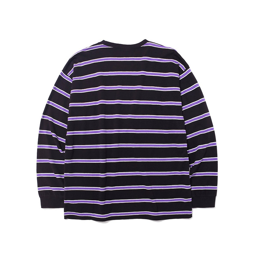 BTS Jimin Mark Gonzales M/G Striped Long Sleeve T-shirts Black