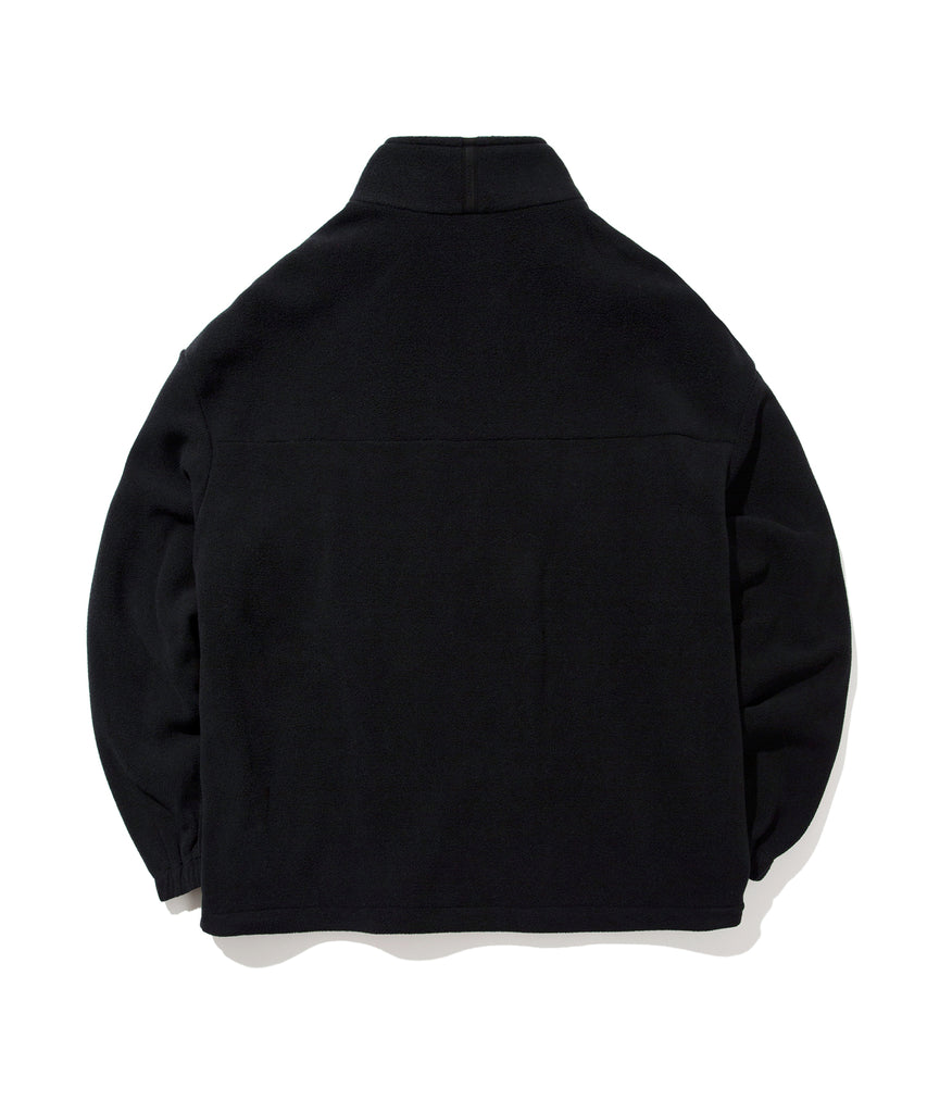 Covernat Fleece Jackets Black  - HALLYU MART