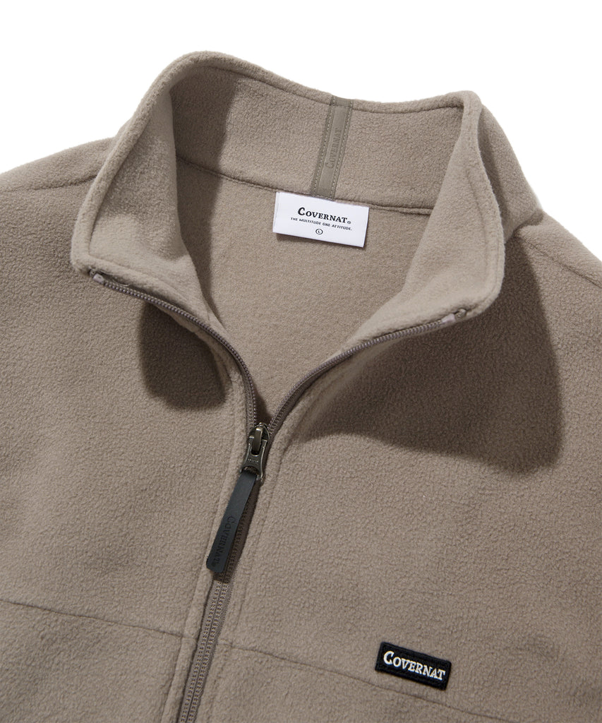 Covernat Fleece Jackets Beige  - HALLYU MART