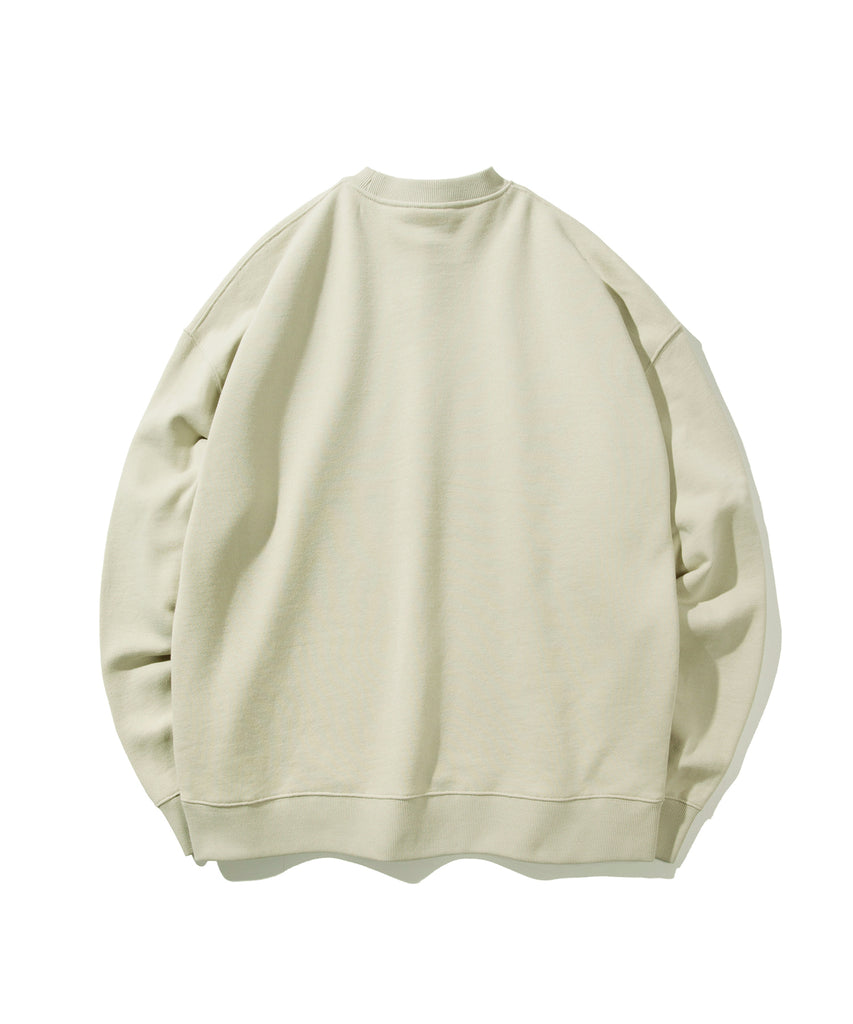 Covernat Wapen Authentic Crewneck Sweatshirt Olive Green  - HALLYU MART