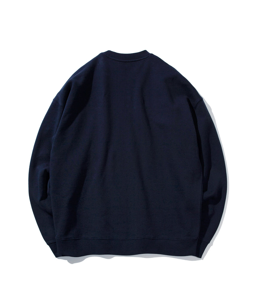 Covernat Wapen Authentic Crewneck Sweatshirt Navy  - HALLYU MART