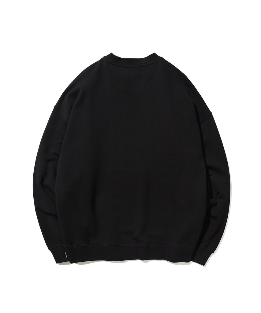 Covernat Small Sign Logo Crewneck Sweatshirt Black  - HALLYU MART