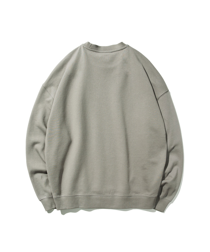 Covernat Small Sign Logo Crewneck Sweatshirt Grey  - HALLYU MART