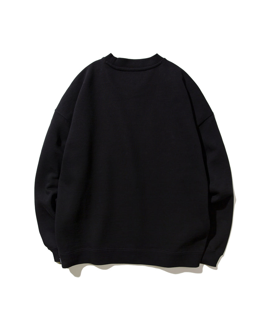 Covernat Speed Logo Crewneck Sweatshirt Black  - HALLYU MART