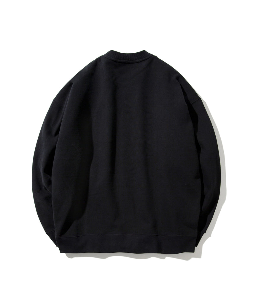 Covernat Star Planet Crewneck Sweatshirt Black  - HALLYU MART
