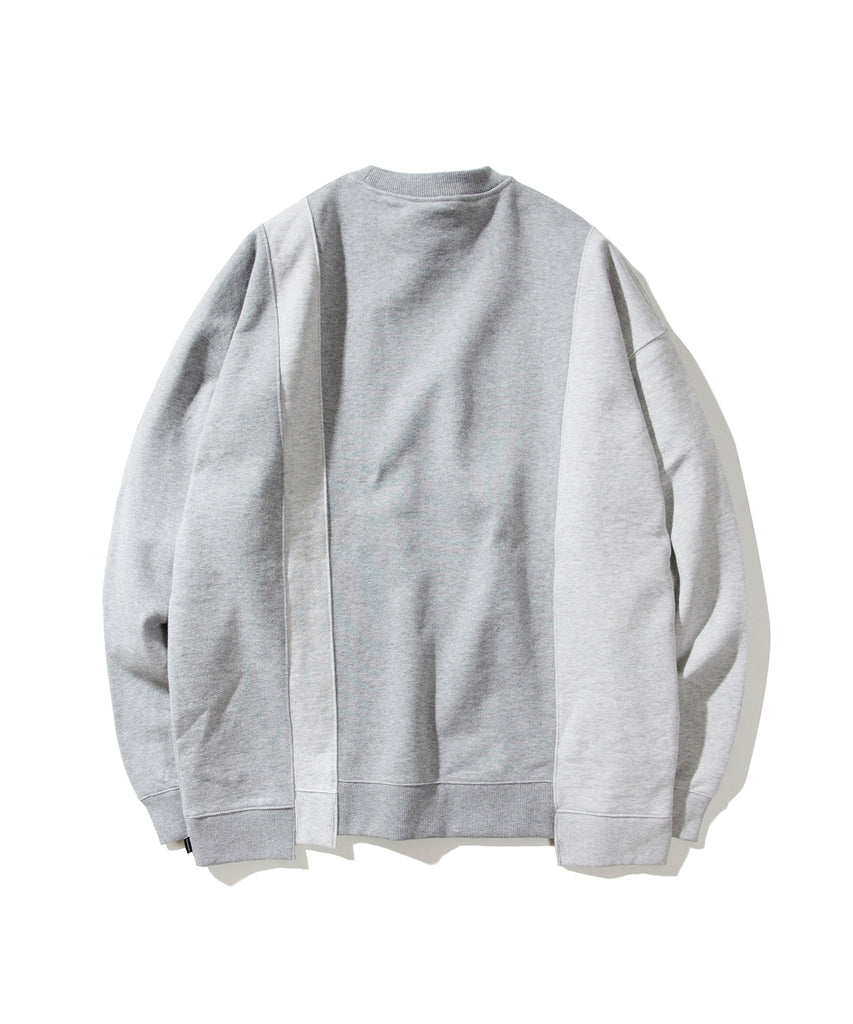 Covernat 4 Panel Crewneck Sweatshirt Grey  - HALLYU MART